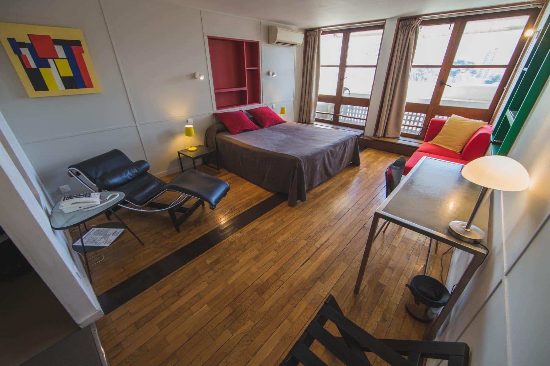 Chambre double deluxe avec balcon - vue parc : La Design 152 Euros -